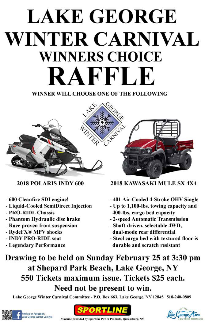 Lake George Winter Carnival Raffle 2018
